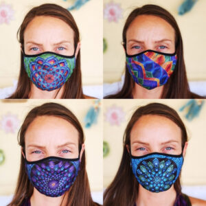 Fashionable Reusable 4-Pack Face Masks (Four Designs) No. 8