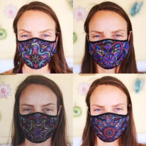 Fashionable Reusable 4-Pack Face Masks (Four Designs) No. 6