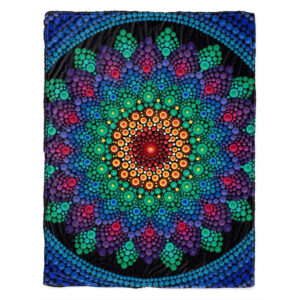Sunshine In a Flower Luxury Fleece Throw Blanket
