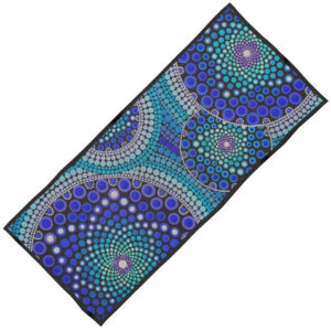 'Blue Seeds Of Life Bubbles' Designed Beach Towel