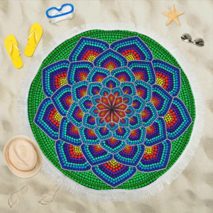 Xaile Circular Esperança para Praia 150cm x 150cm
