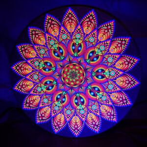 UV-Punktmalerei 'African Lady' (40 cm kreisförmig)