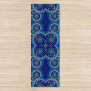 'Blue Seeds Of Life Bubbles'Yoga Mat