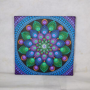 Calmness One-Of-A-Kind Acrylic Dot-Painting (20cm x 20cm canvas)