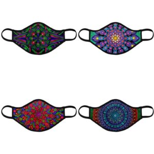 Fashionable Reusable 4-Pack Face Masks (Four Designs) No. 4
