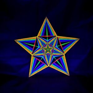 The Sacred Star One-Of-A-Kind UV-Dot-Painting (stervormig 50cm x 50cm)