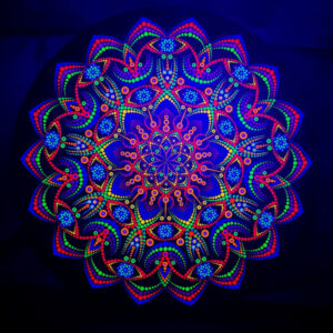 Mystic Spring Flower One-Of-A-Kind UV Dot-Painting (ronde Canvas 50cm)