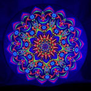 Pintura de Ponto UV Flor Mística Primavera