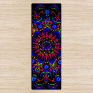 Tapis de yoga écologique 'Mystic Springflower'
