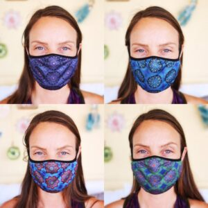 Fashionable Reusable 4-Pack Face Masks (Four Designs) No. 7