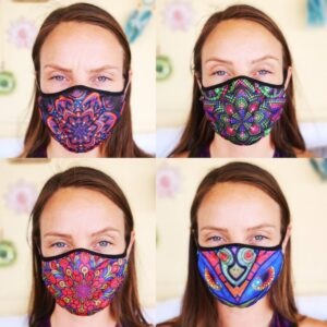 Fashionable Reusable 4-Pack Face Masks (Four Designs) No. 5