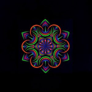 Pintura UV única 'Night Flower' (tela de 30 cm x 30 cm)