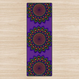 'Torus In A Galaxy' Purple Yoga Mat