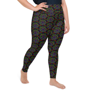 Leggings de talla grande con estampado completo 'Nigth Flower Mix'