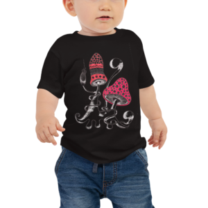 2 Mushrooms Baby Jersey Kurzarm T-Shirt