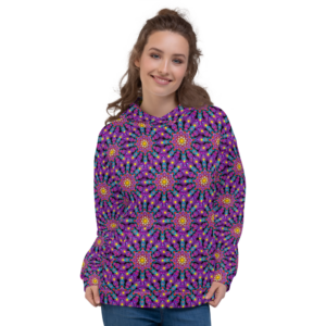 Moletom feminino 'Purple Dot Mandala Mix'
