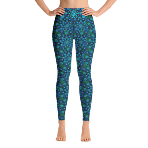 Leggings para ioga 'Azul Mix'