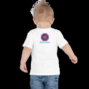 Purple Dot Mandala Toddler Kortærmet T-shirt