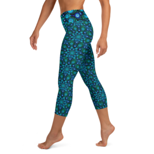 'Azul Mix' Yoga Capri Leggings