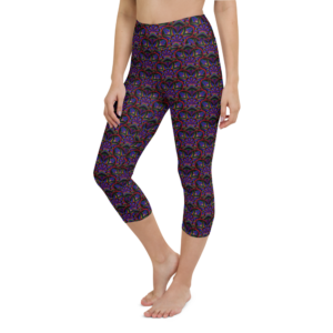 'Portal Of Angels' Yoga Capri Leggings