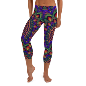 'Torus In A Galaxy' Capri Leggings