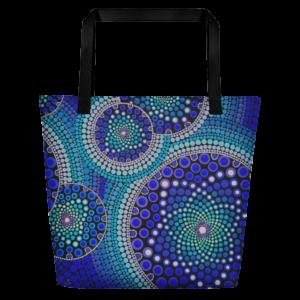 Blue Seeds Of Life Bubbles Nagy Tote Bag