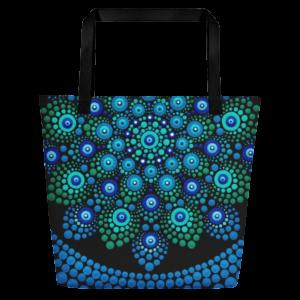 'Azul'大号手提袋