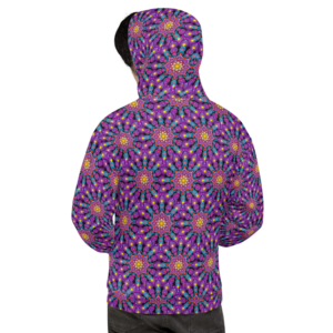 Moletom masculino 'Purple Dot Mandala Mix'