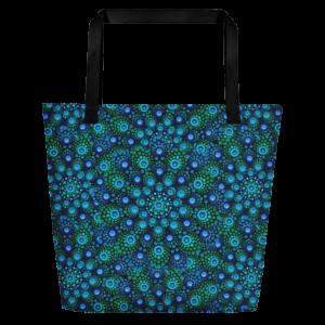 'Azul Mix' stor tygväska